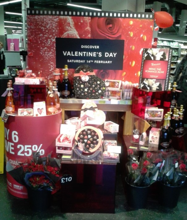 Grand displays during St Valentines inside every Marks & Spencer stores.