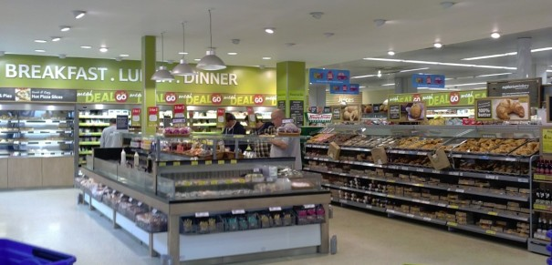 Tesco convenience store - you can buy breakfast, lunch, dinner, and Go!