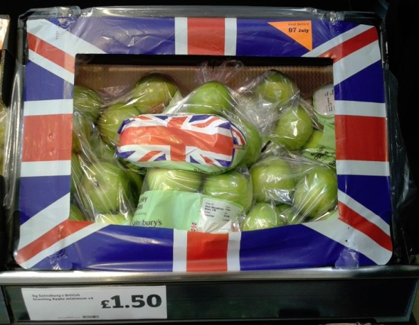 Sainsbury's British Apples. Not yet the season, but it is important to be local!