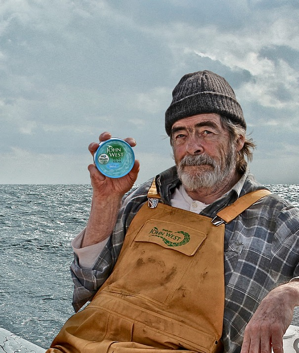 John West, Britain's number 1 brand for tuna, showing consumers in their advertising how the real fishermen are.